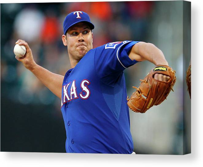 Second Inning Canvas Print featuring the photograph Colby Lewis by Rich Schultz