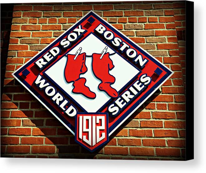 Boston Canvas Print featuring the photograph Boston Red Sox 1912 World Champions by Stephen Stookey