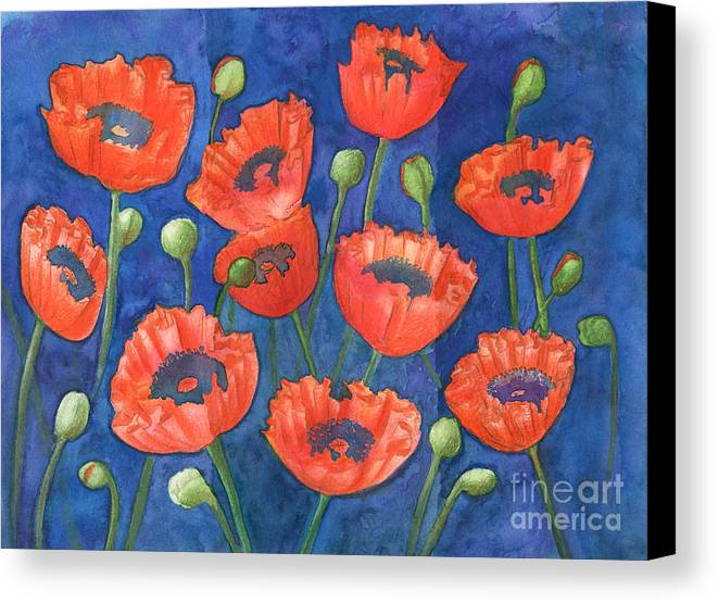 Art Canvas Print featuring the photograph Red Poppies by Ingela Christina Rahm