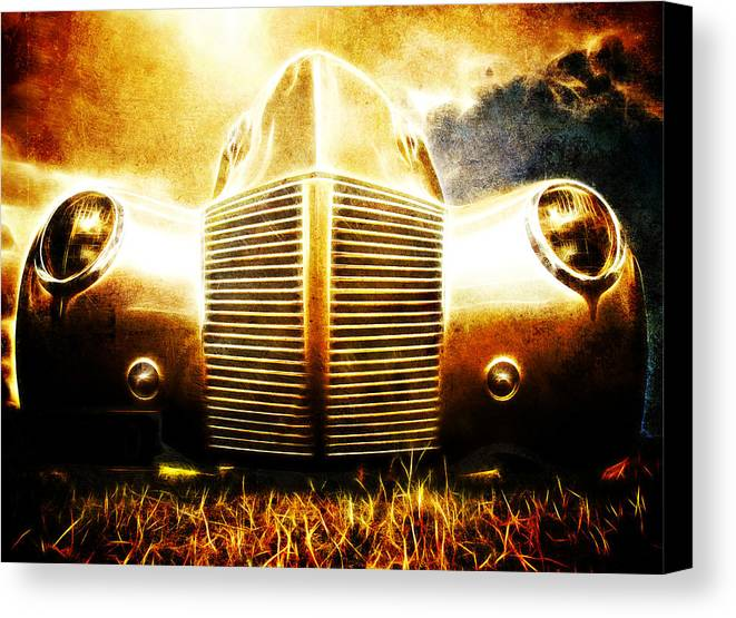 Custom Ford Canvas Print featuring the photograph 1939 Ford Roadster by Phil 'motography' Clark