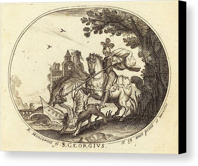 Balthasar Canvas Print featuring the drawing Balthasar Moncornet French by Quint Lox
