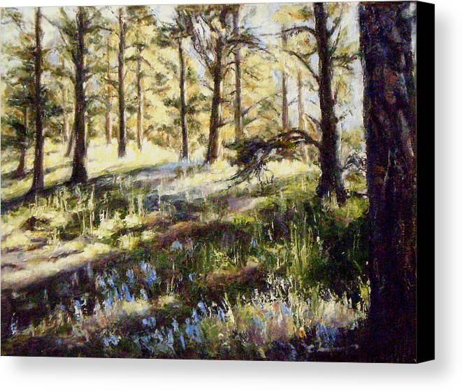 First Light Canvas Print featuring the painting First Light by Chisho Maas
