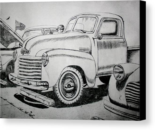 Americana Canvas Print featuring the drawing American Made by Stacy C Bottoms