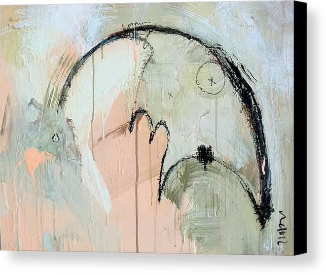 Contemporary Canvas Print featuring the painting An Allegory Of Things Unknown 6 by Mark M Mellon