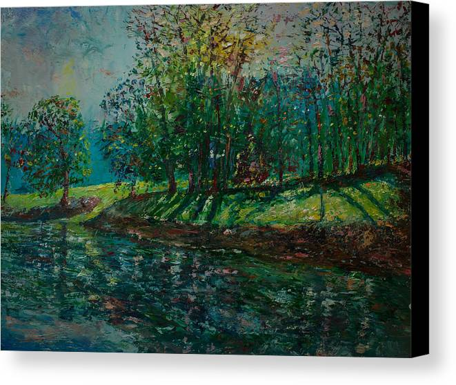 Oil Canvas Print featuring the painting At Carondelet Park by Horacio Prada