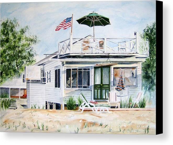 Beach Canvas Print featuring the painting Beach House by Brian Degnon