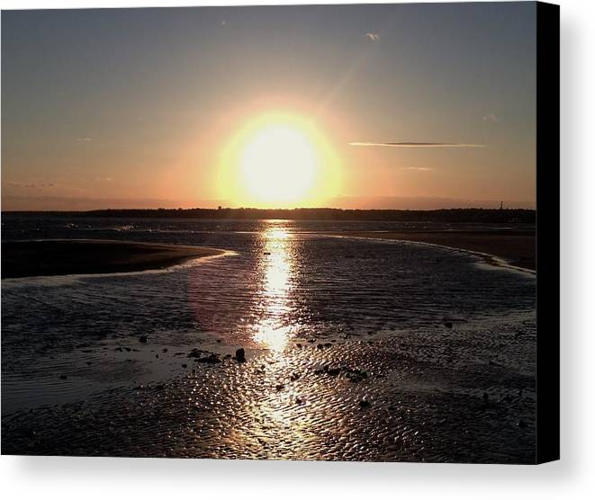 Sunset Canvas Print featuring the photograph Beach Sunset by Beth Holly
