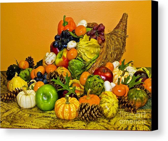 Cornucopia Canvas Print featuring the photograph Bountiful Harvest by Valerie Fuqua