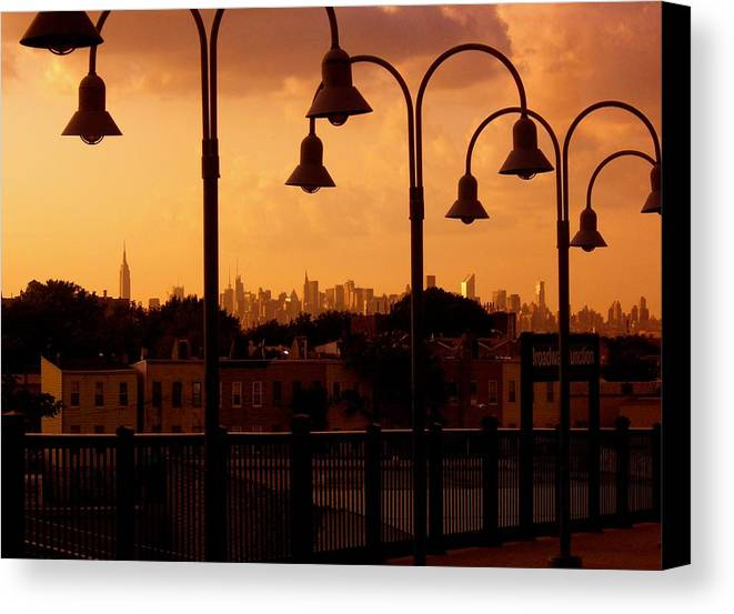 Iphone Cover Cases Canvas Print featuring the photograph Broadway Junction In Brooklyn, New York by Monique's Fine Art