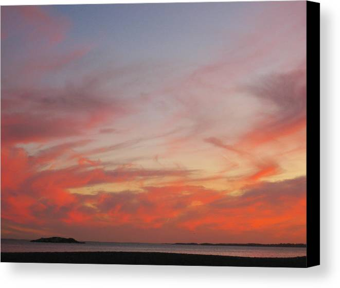 Sky Canvas Print featuring the photograph Clouds On Fire by Katina Borges