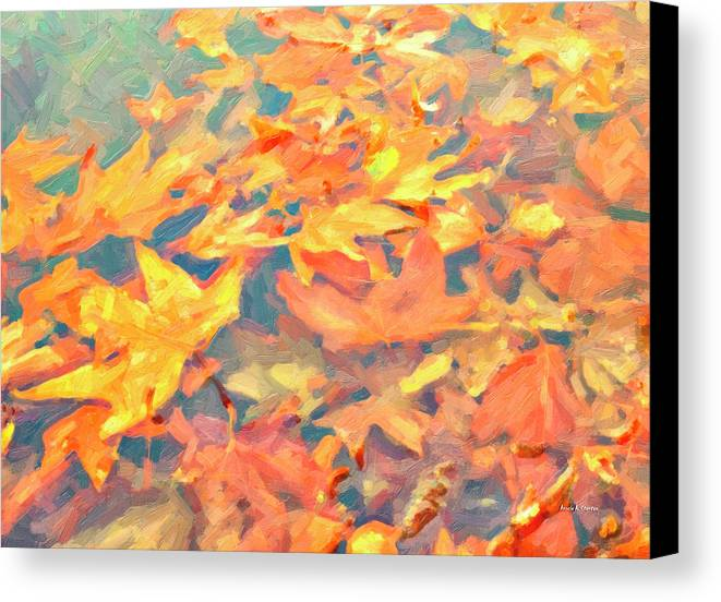 Autumn Canvas Print featuring the painting Computer Generated Image Of Autumn by Angela A Stanton