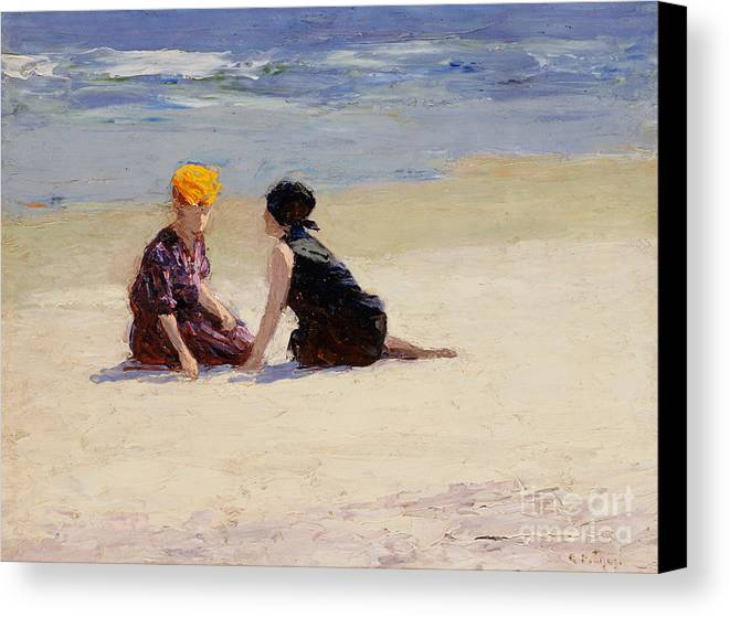 Couple Canvas Print featuring the painting Confidences by Edward Henry Potthast