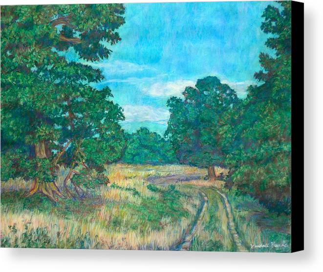 Landscape Canvas Print featuring the painting Dirt Road Near Rock Castle Gorge by Kendall Kessler