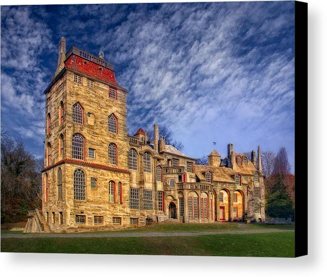 Byzantine Canvas Print featuring the photograph Eclectic Castle by Susan Candelario