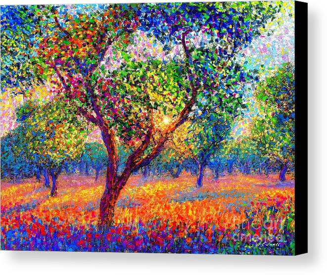 Poppies Canvas Print featuring the painting Evening Poppies by Jane Small