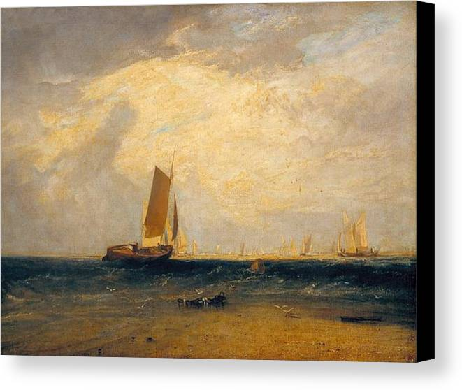 1809 Canvas Print featuring the painting Fishing Upon The Blythe-sand by JMW Turner