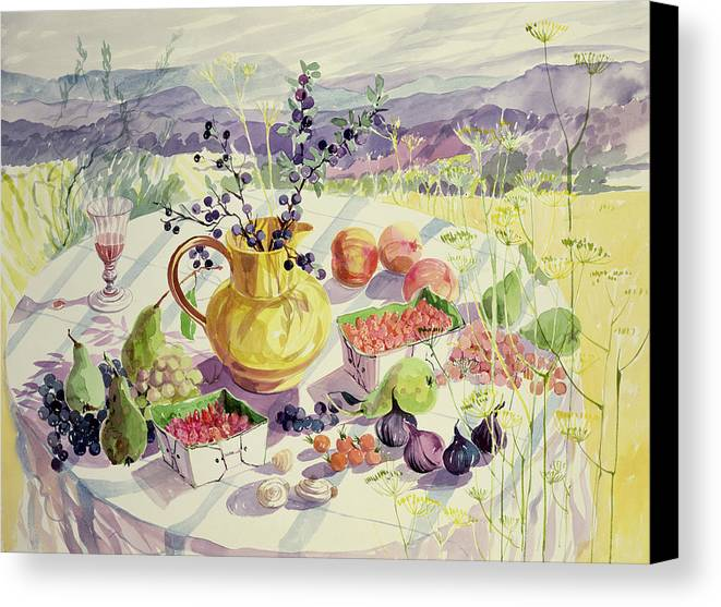 Flower Canvas Print featuring the painting French Table by Elizabeth Jane Lloyd