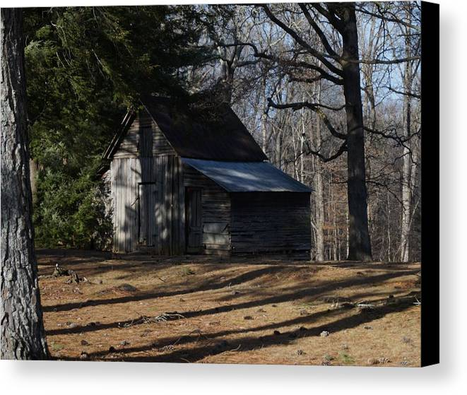 Northern Canvas Print featuring the photograph Georgia Barn by John Wall
