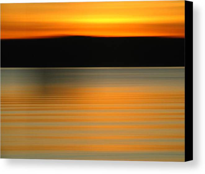 Intentional Camera Movement Canvas Print featuring the photograph Gloucester Brace Cove by Juergen Roth