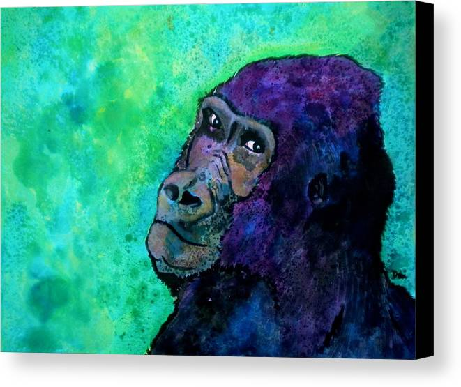 Go Sit In Time Out Canvas Print featuring the painting Go Sit In Time Out by Debi Starr