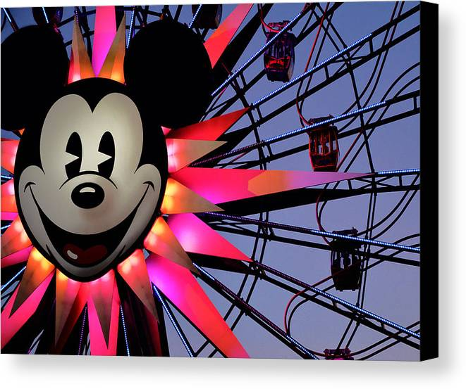 Mickey Canvas Print featuring the photograph Happy Times by Camille Lopez