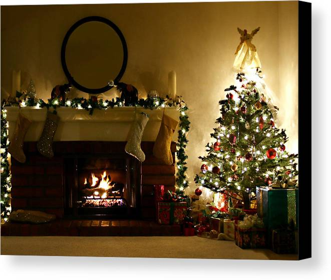 Home For The Holidays Canvas Print featuring the photograph Home For The Holidays by Ellen Henneke