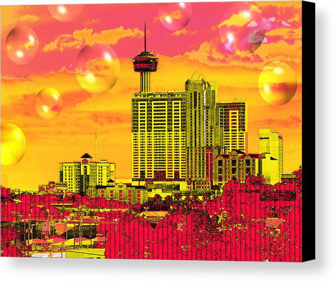 San Antonio Canvas Print featuring the digital art Inner City - Day Dreams by Wendy J St Christopher