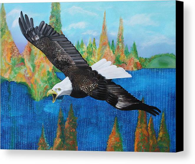 Eagle Canvas Print featuring the painting Into The Future by John Keaton