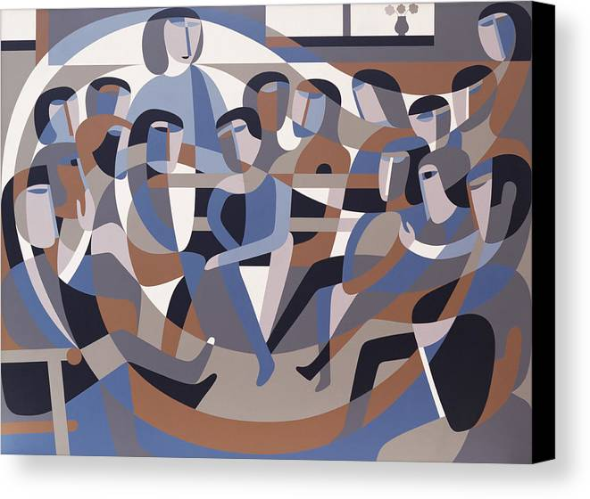 Jordan Canvas Print featuring the painting Jordan Quaker Meeting 2 by Ron Waddams