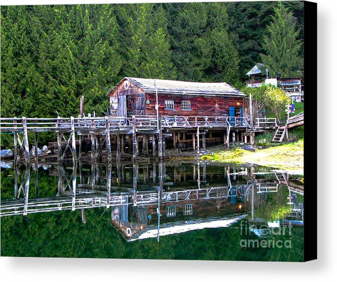 British Columbia Canvas Print featuring the photograph Lagoon Cove by Robert Bales