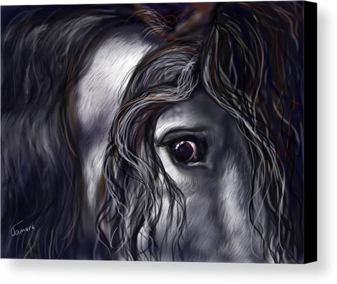 War Canvas Print featuring the painting Lipizzan by Tamara Esoterica