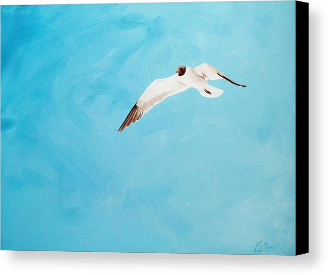Bird Canvas Print featuring the painting Loner by Scott Alcorn