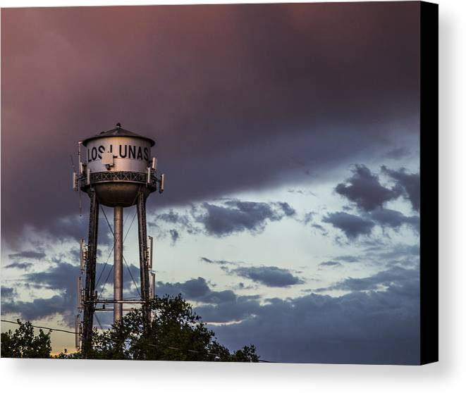 Route 66 Canvas Print featuring the photograph Los Lunas Water Tower by Angus Hooper Iii