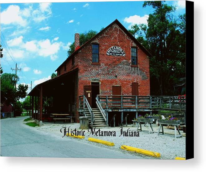 United Canvas Print featuring the photograph Metamora Grist Mill by Gary Wonning