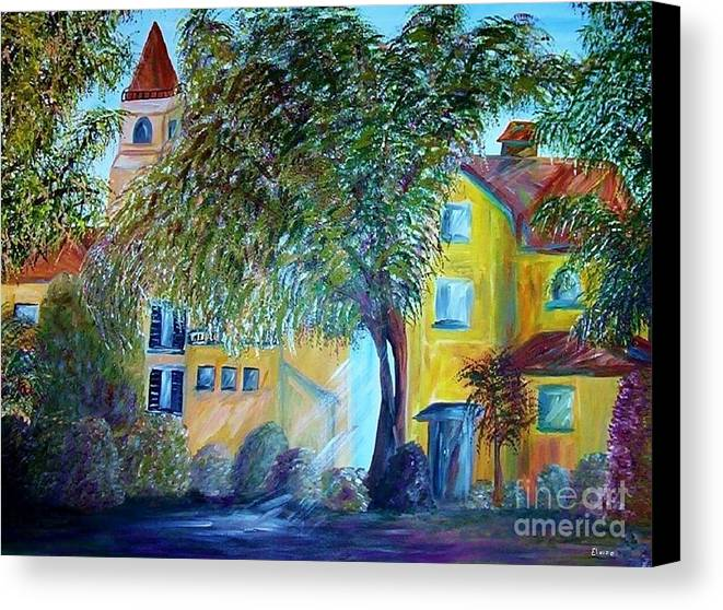 Tuscan Canvas Print featuring the painting Morning In Tuscany by Eloise Schneider Mote