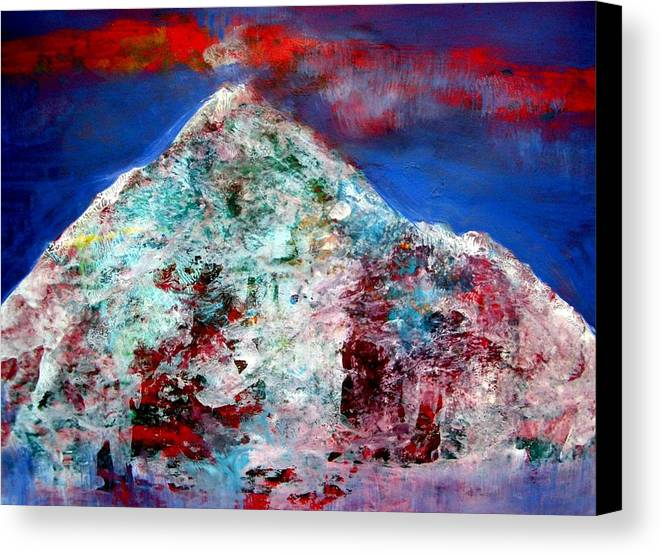 Painting Canvas Print featuring the painting Mountain 120714-3 by Aquira Kusume