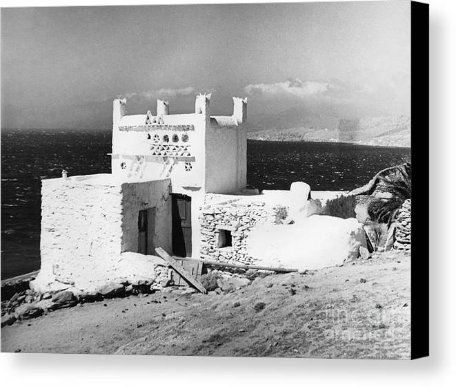 20th Century Canvas Print featuring the photograph Mykonos Terrace. by Granger