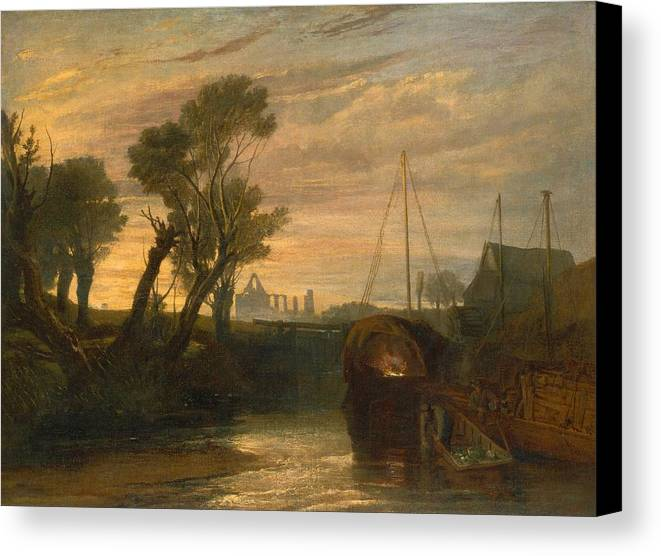 1806 Canvas Print featuring the painting Newark Abbey by JMW Turner
