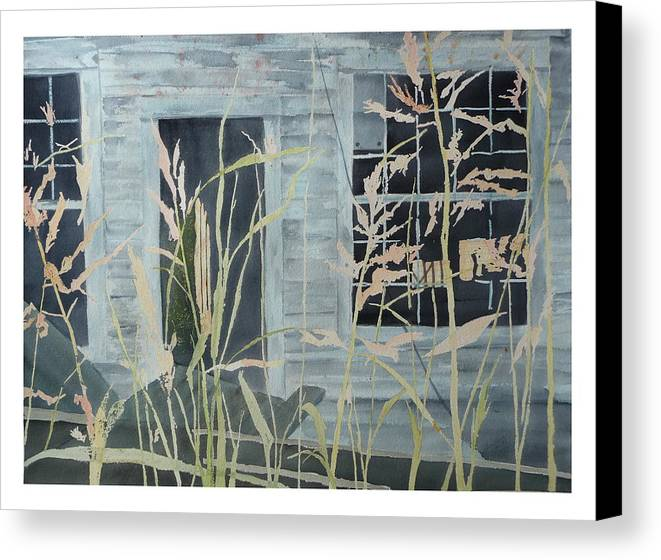 Catawba County Canvas Print featuring the painting Old Store At June Bug Road by Joel Deutsch
