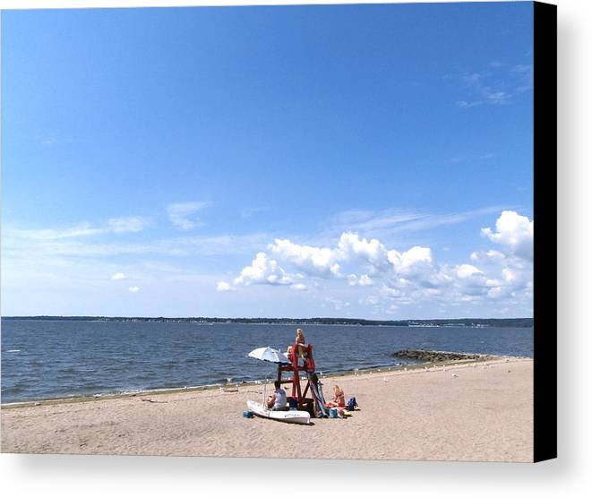 Blue Water Canvas Print featuring the photograph On The Beach by Kate Gallagher