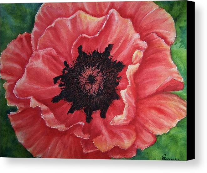 Poppy Canvas Print featuring the painting Poppy by Conni Reinecke
