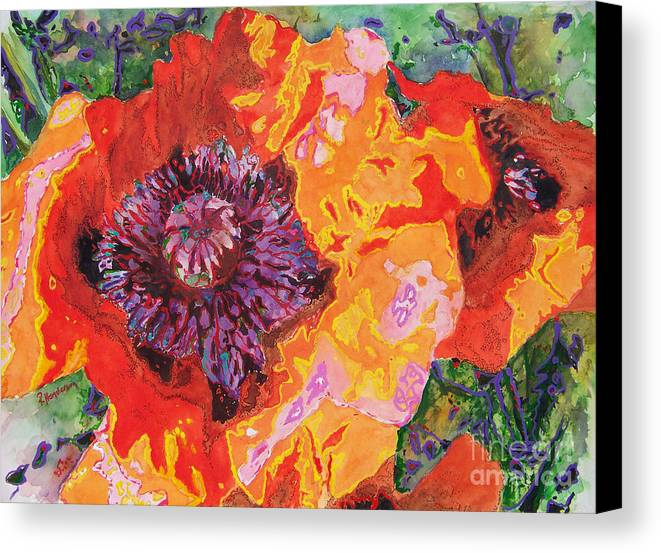 Poppy Canvas Print featuring the painting Psychedelia by Patricia Henderson