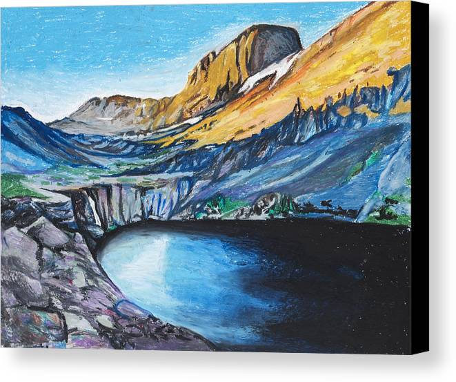 Mountains Canvas Print featuring the painting Quick Sketch - Kit Carson Peak by Aaron Spong