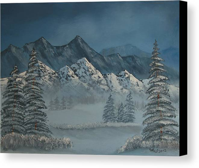 Land Canvas Print featuring the painting Silver Pine Valley by Peter Kallai