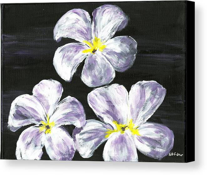 Flowers Canvas Print featuring the painting Singapore Gems 2 by Alice Faber