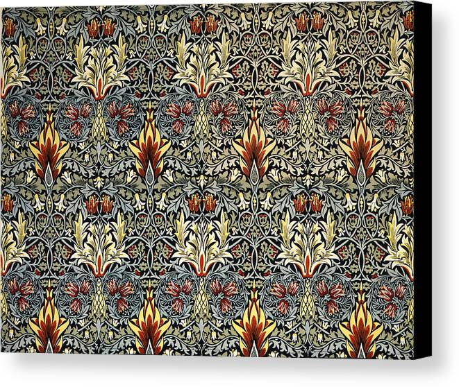 William Canvas Print featuring the tapestry - textile Snakeshead by William Morris