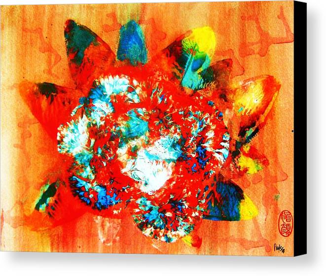 Abstract Canvas Print featuring the painting Starburst Nebula by Roberto Prusso