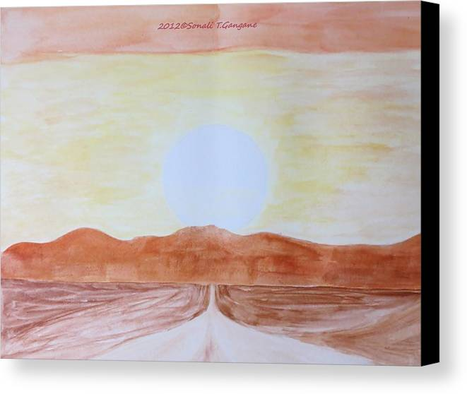 Star Canvas Print featuring the painting Sun Star by Sonali Gangane