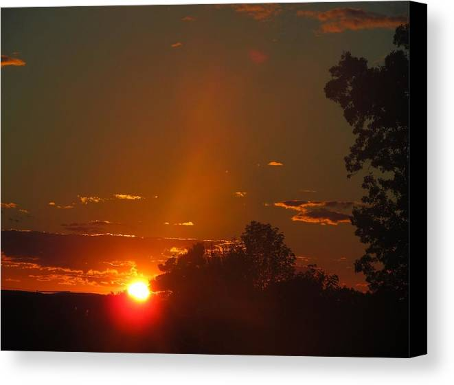 Horizon Canvas Print featuring the photograph Sunset by Loretta Pokorny
