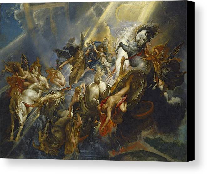 Rubens Canvas Print featuring the painting The Fall Of Phaeton by Peter Paul Rubens